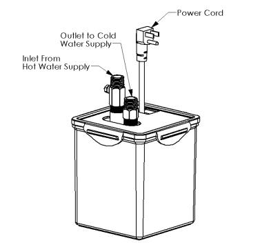 Side view of the hot water pump for the hot water pumping system using a Chilipepper hot water pump